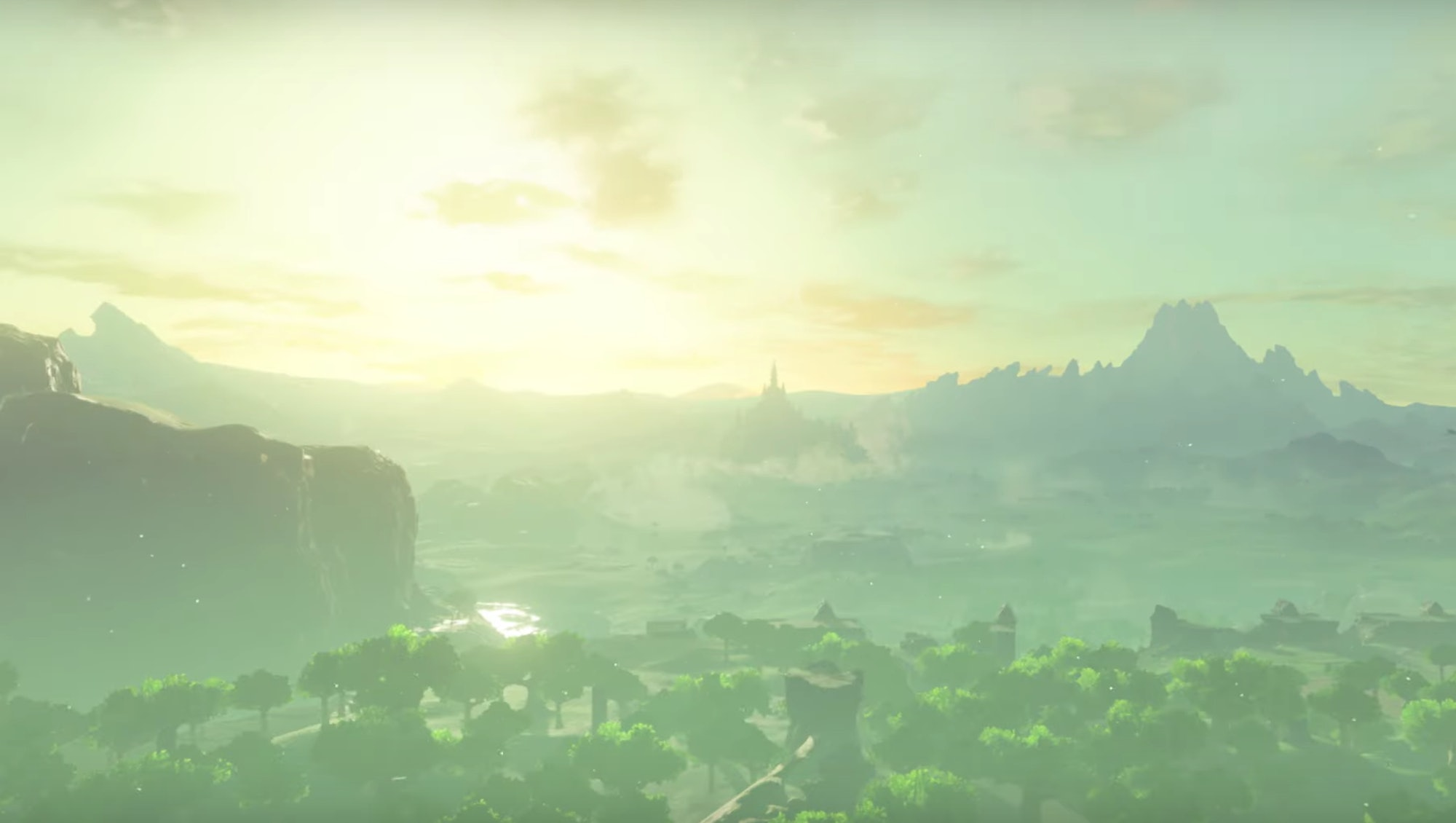 Still photo of Hyrule from Breath of the Wild sequel trailer