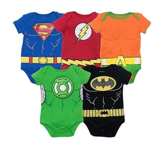 Justice League Baby Boys' 5 Pack Bodysuits - Assorted Superheroes