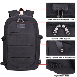 Tzowla Business Laptop Backpack Water Resistant Anti-Theft College Backpack