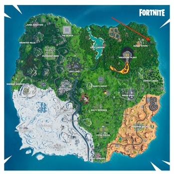 Fortnite Season 10 week 4 loading screen location