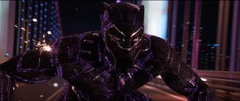 Black Panther's Vibranium armor makes him literally bulletproof.