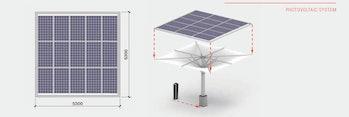 Solar umbrella MDT-tex