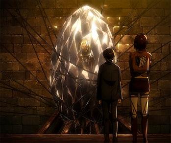 Annie is still encased in diamond, trapped underground somewhere.