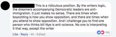 Facebook comment on Scientific American's Facebook page.