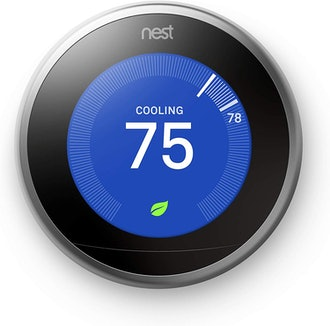 Nest Learning Thermostat, 3rd Gen, Smart Thermostat, Stainless Steel, Works With Alexa