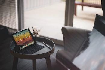 An iPad Pro on a table.
