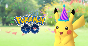 Festive Hat Pikachu in 'Pokemon GO'