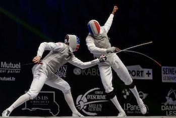 race imboden Enzo LeFort foil fence FIE fencing fencer parry sword escrime escrimeur