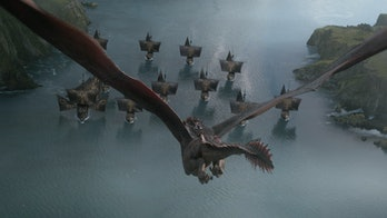 The Iron Fleet faces off against a dragon in 'Game of Thrones'