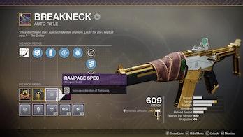 destiny 2 breakneck weapon mod