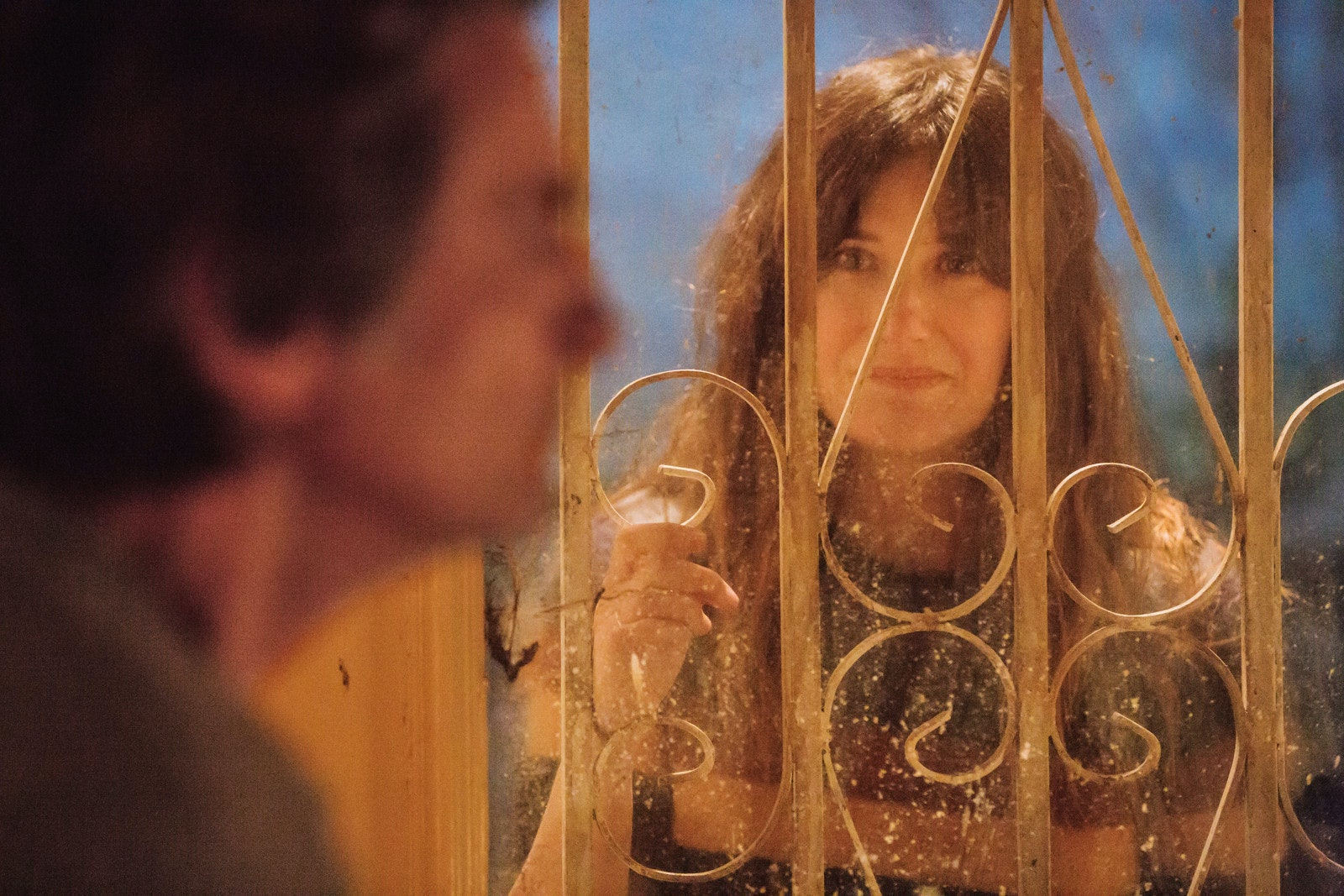 Chris (Kathryn Hahn) pleads with Sylvere (Griffin Dunne) in 'I Love Dick'