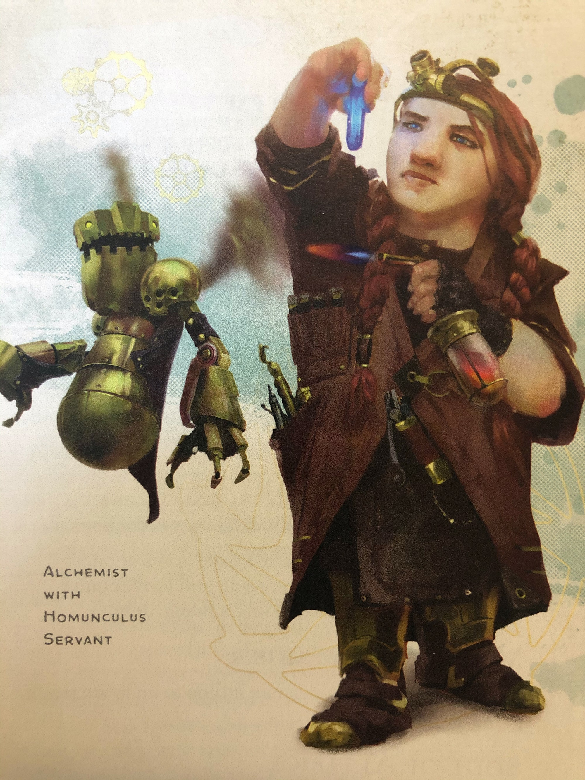 artificer with homunculus