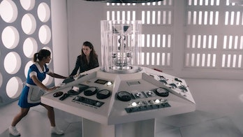 Clara and Lady Me flew away in their own TARDIS at the end of Season 9.