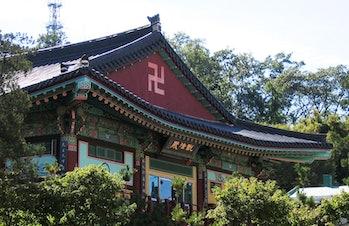 korean temple swastika