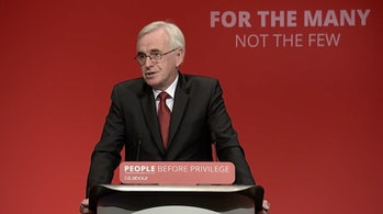 John McDonnell, the party's shadow chancellor.