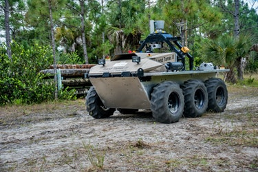 "A ground vehicle being developed by TARDEC's ""Extending the Reach of the Warfighter through Robotics"" project."