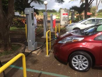 Nissan LEAF charging station
