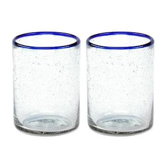 Sobremesa Blue Rim Juice Glass Set
