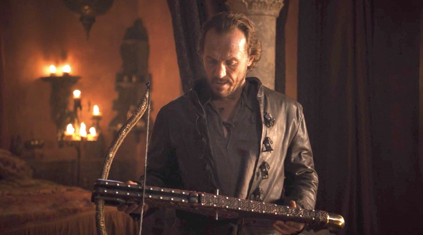 After going unremarked in Episode 3, will Bronn use his crossbow to kill his old friend, Tyrion?