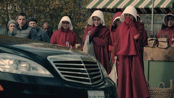 handmaids tale oflgen car scene alexis bledel