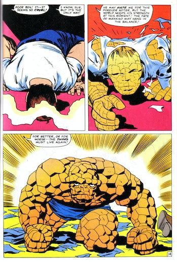 the thing comic origins marvel