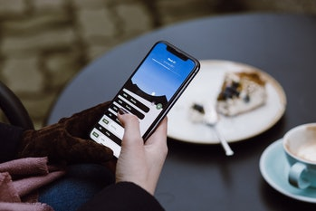 The iPhone X in action.