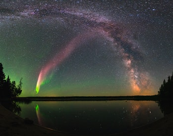 Steve and the Milky Way, Childs Lake, Manitoba.