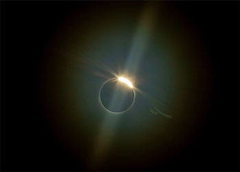 The view of the eclipse from La Higuera, Chile. CREDIT: Esteban Felix/AP/Shutterstock