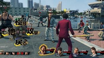 Yakuza 7 turn-based combat