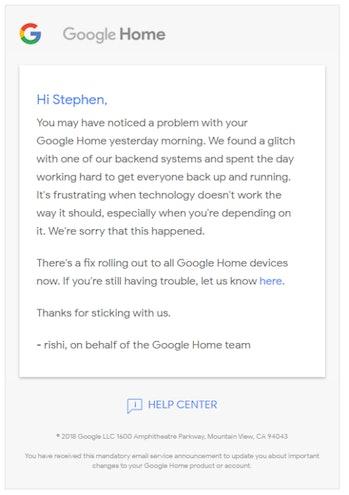 google email glitch