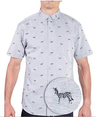Visive Original Printed Short Sleeve Button Down Shirt Size