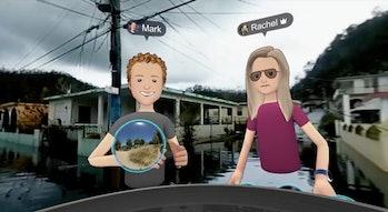 Zuckerberg in Puerto Rico.