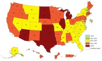 obesity map hispanic americans