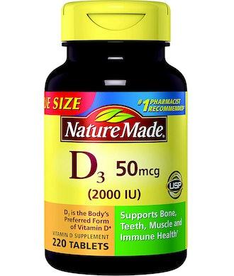 Nature Made Vitamin D3 2000 IU Tablets