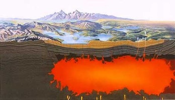 Yellowstone magma chamber