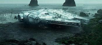 millennium falcon star wars the rise of skywalker rey kylo ren