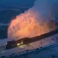 Reddit Video Shows Mushroom Cloud of Fire and Steam From Chinese Train
