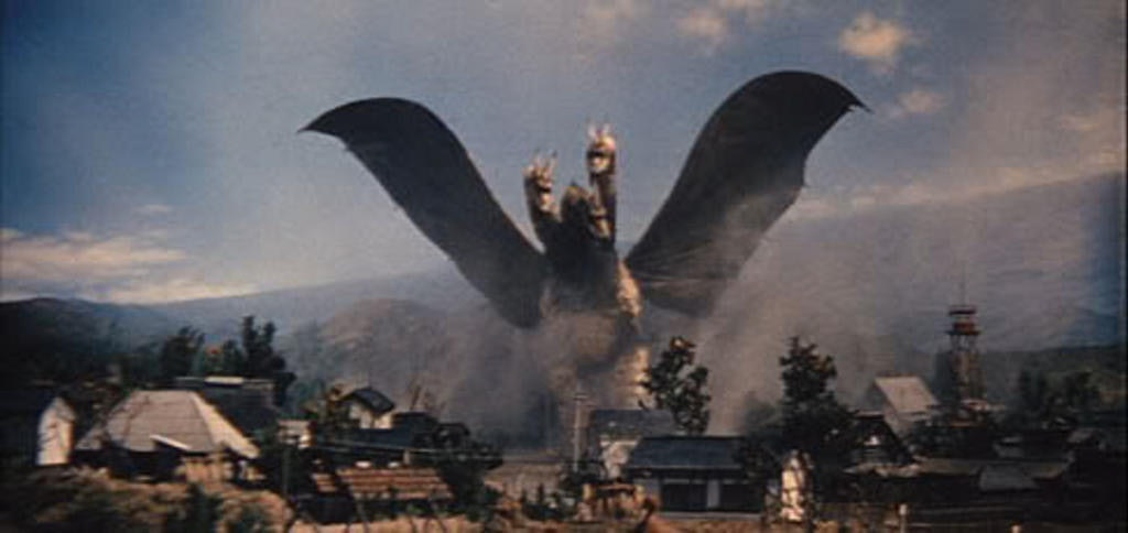 Ghidorah makes his 1964 debut godzilla king of the monsters