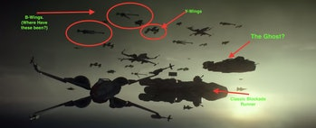 The new and retro Rebel Fleet in 'The Rise of Skywakler'