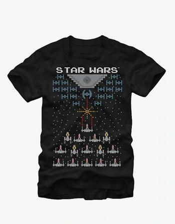 STAR WARS PIXEL BATTLE OF YAVIN T-SHIRT