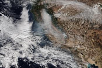 smoke satellite shot