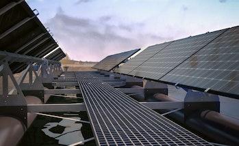 Floating solar panels.