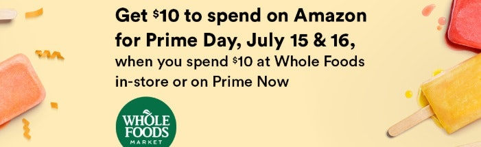 Get $10 when you shop at Whole Foods