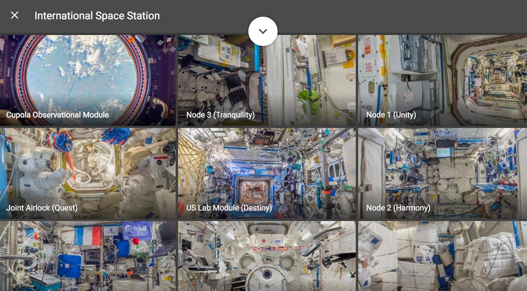 google street view international space station