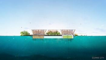 Oceanix floating city.