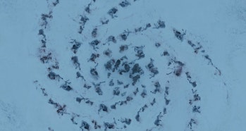 The first White Walker death spiral from 'Game of Thrones' Season 1