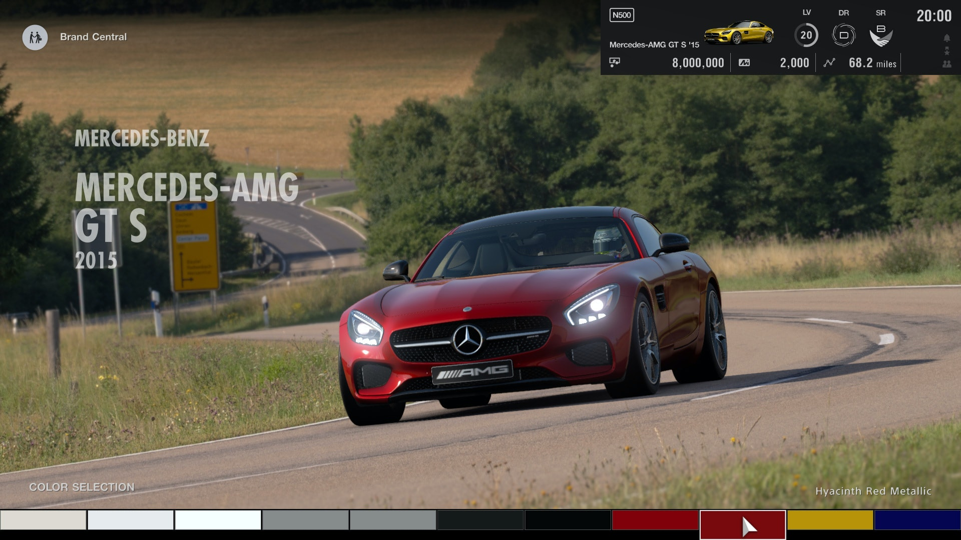 The game's user interface