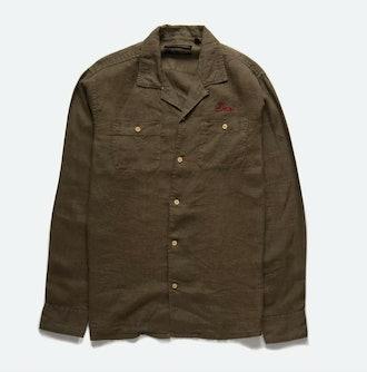Deus Ex MachinaDean Linen LS Shirt