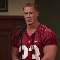 Watch John Cena Go Bananas for Science as Alabama Football Player on SNL