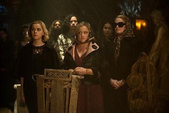 Sabrina, Hilda, and Zelda Spellman in 'Chilling Adventures of Sabrina'.